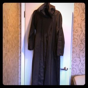 Ankle length reversible raincoat
